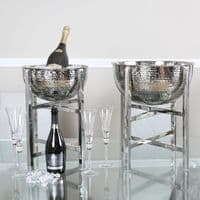 Small 34cm Stainless Steel Wine Cooler Bowl on Stand